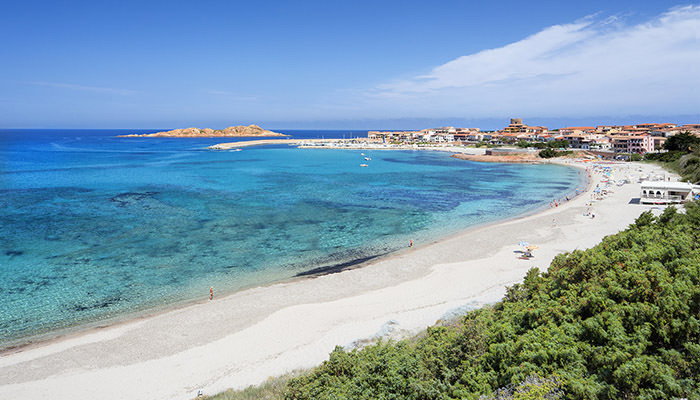 2018 Blue Flag, the Spiaggia Lunga at Isola Rossa, Sardinia