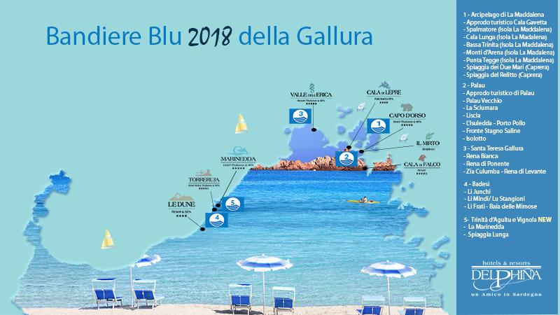 Le Bandiere Blu 2018 del Nord Sardegna