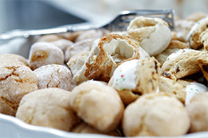 Selection of Sardinian sweets