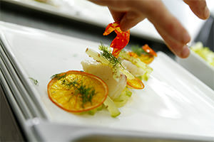 Composition of the dish of Chef Delphina