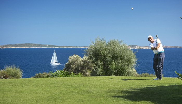 Golf at the Hotel Capo d'Orso in Palau, just a stone's throw away from the Costa Smeralda