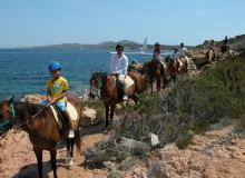 gruppo delphina gallery escursioni passeggiata a cavallo  Palau, Cala Capra Сардиния - Италия