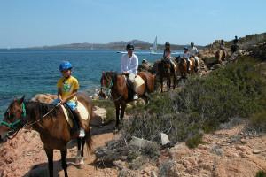 gruppo delphina gallery escursioni passeggiata a cavallo  Palau, Cala Capra Sardegna