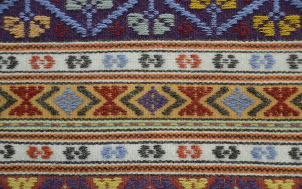 Un classico tappeto fatto a mano di Aggius