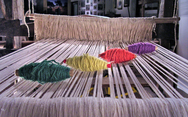 Un tipico tappeto fatto a mano di Aggius