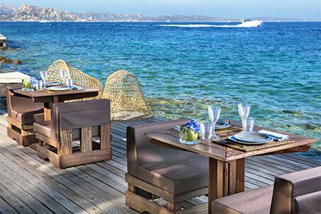 Restaurants Delphina Hotel Capo d'Orso Palau, Costa Smeralda Sardinia - Italy