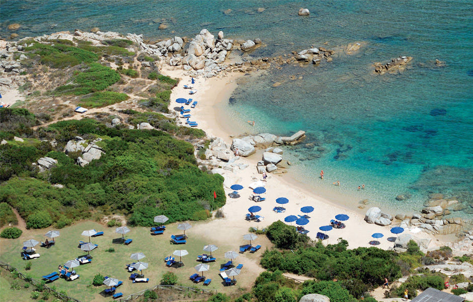 "Wonderful panoramic view of ""La Licciola"" beach and the Resort Valle dell'Erica"