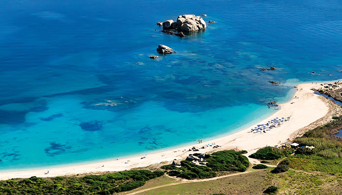 La Licciola, the beach along the coast of Santa Teresa Gallura, North Sardinia