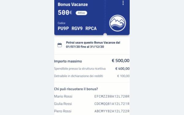 Invio copia Bonus Vacanze